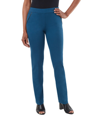 Women's blue ponte pants
