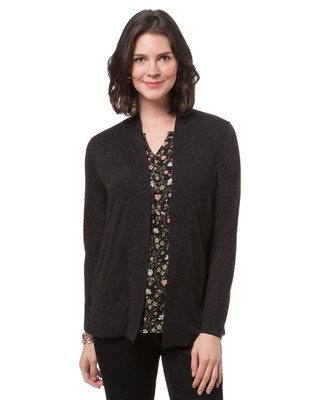 Women's bell sleeve cardigan topper