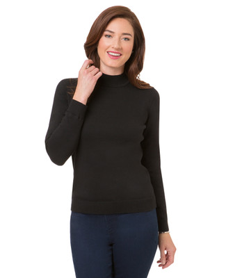 Women's cotton mock neck sweater