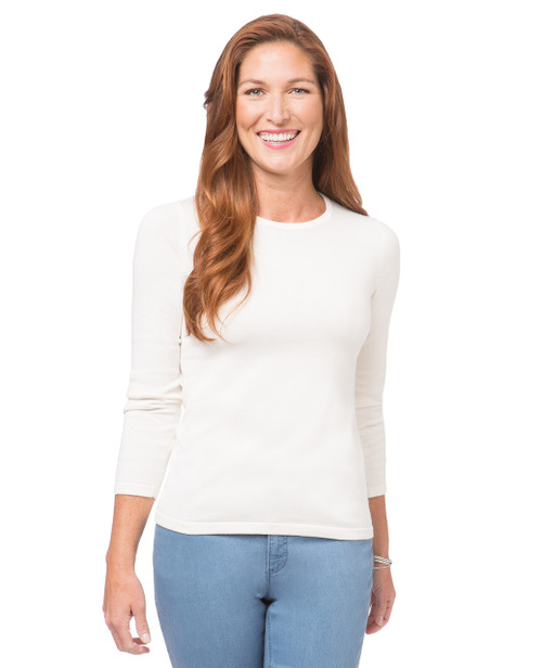 Women's cotton crew neck t sweater