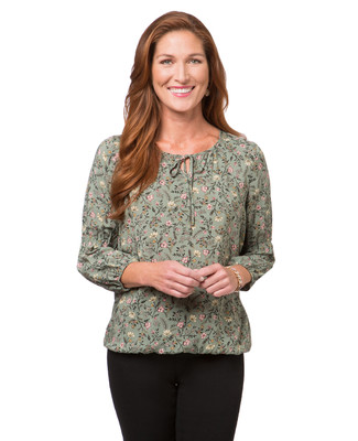 Women's thyme puff sleeve floral blouse design