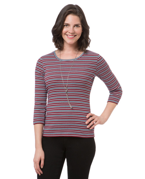 Women's everyday striped crew neck tee