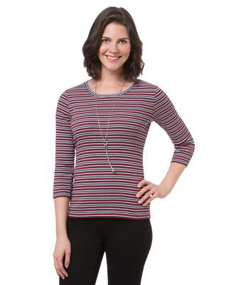 Women's everyday striped crew neck tee
