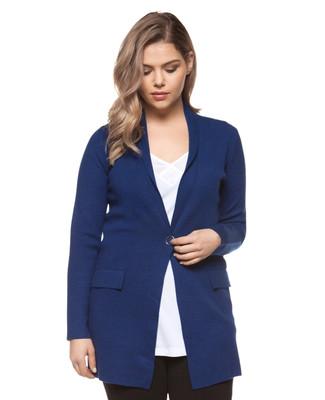 Women's blue stone plus size blazer