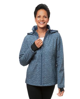 Women's petro blue active windbreaker jacket