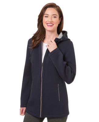 Women's navy double knit jacket