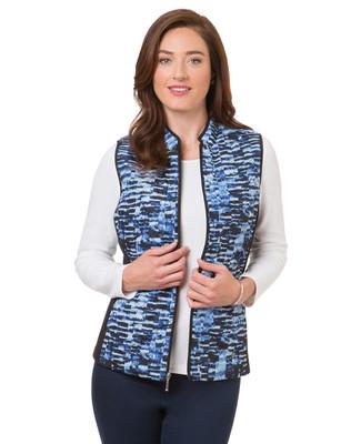 Women's blue stone active athletic vest