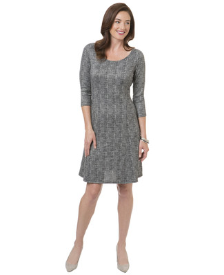 Women's charcoal knit sweater dress