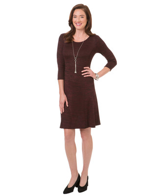 Women's red garnet knit sweater dress