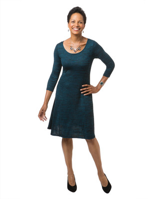 Women's mallard blue knit sweater dress