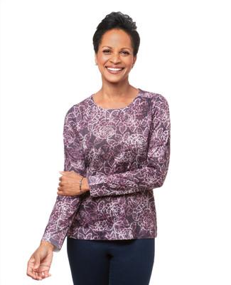 Women's rose sublimation purple violet sweatshirt