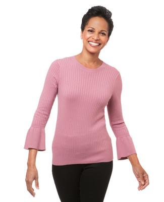 Women's bell sleeve sweater