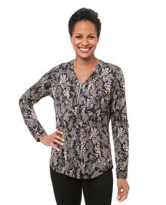 Women's floral print blouse