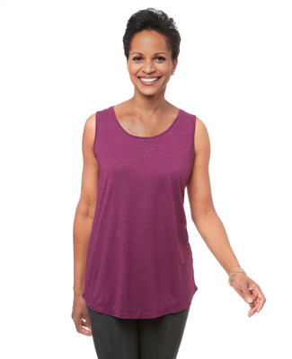 Women's active tank with open back detail