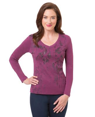 Women's purple violet long sleeve top