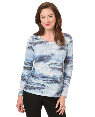 Women's blue stone sublimation top