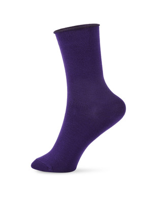 Women's fashion rolled top bamboo socks
