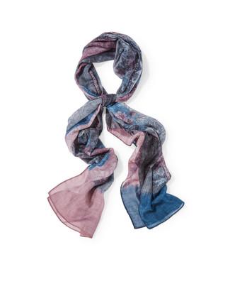 Women's black artistic patchwork scarf