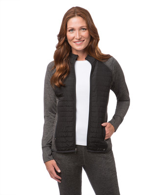 Women's mixed media active jacket