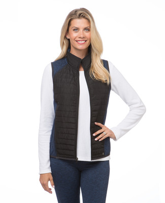 NEW - Quilted Mix Media Active Vest
