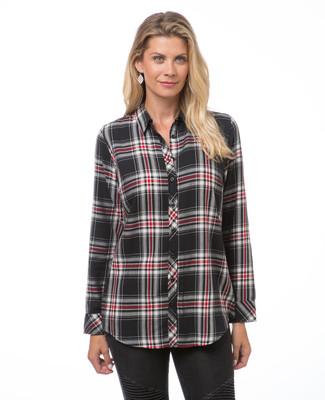 Women's red and black plaid shirt