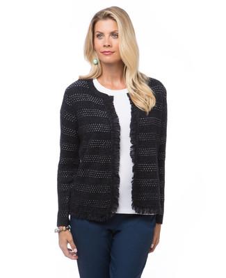 Women's bolero jacket with fringe
