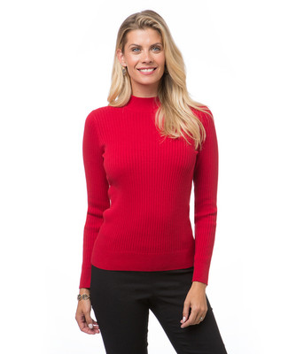 Women's everyday ribbed mock neck sweater