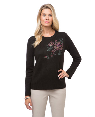 Women's floral print sweater