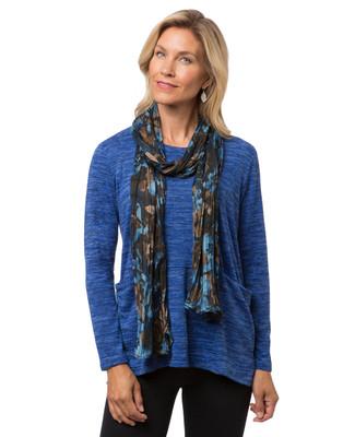 Women's black floral scarf