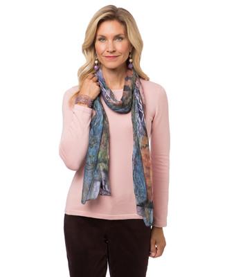 Women's floral print scarf