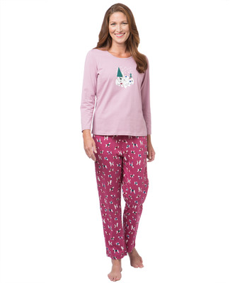 Women's dog print pyjama set
