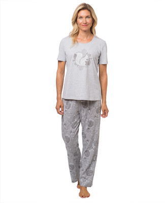 Women's squirrel print pyjama set