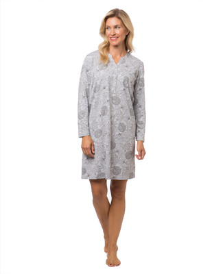Women's leaf print nightshirt
