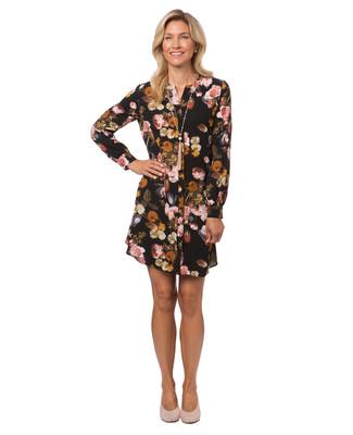 Women's long sleeve floral dress