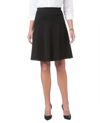 Women's black crepe skirt