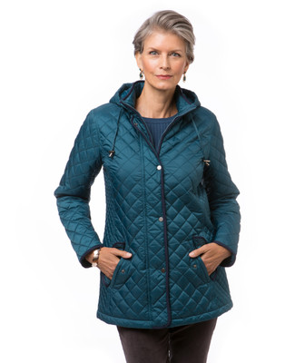 Women's blue quilted jacket