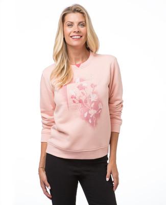 Petite Artistic Floral Sweatshirt