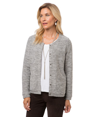Women's grey button down jacket
