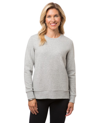 Women's grey popover sweater