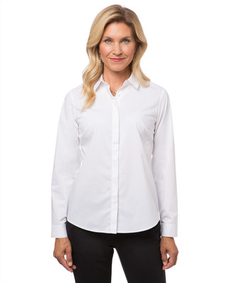 Women's classic white dress shirt