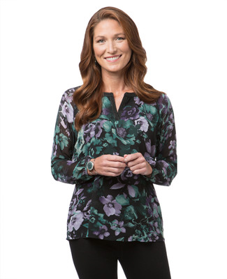 Women's floral popover top