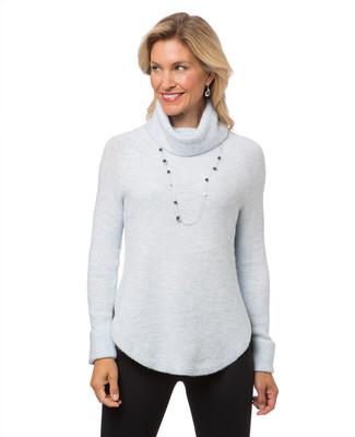 Women's Point Zero blue turtle neck sweater