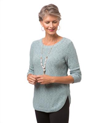 Women's three quarter sleeve pullover sweater