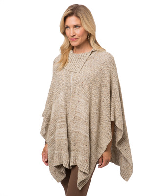 Women's split neck poncho