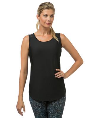 Women's black mesh workout tank top