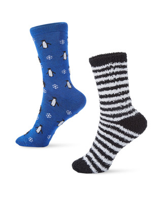 Women's winter holiday 2 pack socks