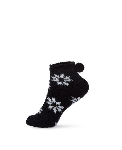 Women's low cut snowflake design socks