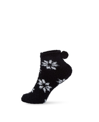 Women's low cut snowflake design socks