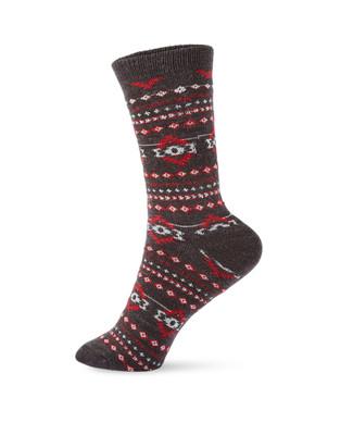 Women wool blend boot socks