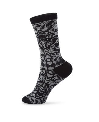 Women's baroque black socks
